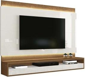 Painel Suspenso Para Tv Até 60 Pol Savoy Edn Off White/naturale