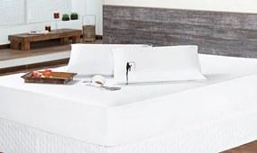 Protetor de Colchão Impermeável Solteiro Branco Liso com 2 peças - Aquarela.