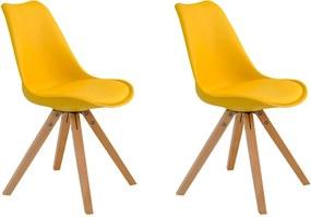 Kit 2 Cadeiras Decorativas Sala e Escritório Neo (PP) Amarela- Gran Belo