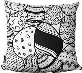Capa para Almofada de Páscoa Ovos Branco 45x4545x45cm