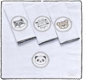 Toalha de Boca Panda 4 Peças