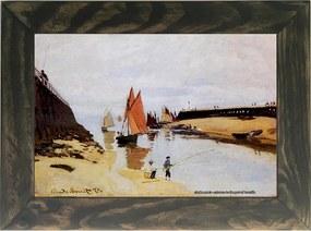 Quadro Decorativo A4 Entrance to the Port of Trouville - Claude Monet Cosi Dimora