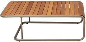 Mesa de Centro Patio Área Externa Tampo Deck Cumaru Estrutura Alumínio Eco Friendly Design Scaburi