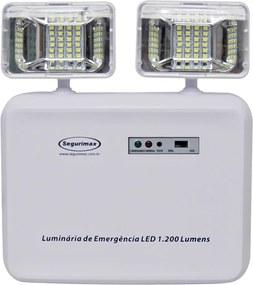 Iluminação De Emergência Bivolt Led 1200 Branca Segurimax