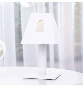 Abajur Infantil Madeira Ursinha Realeza Rosa Grão