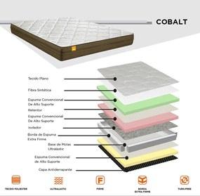 Colchão Casal Cobalt Inducol 22Cm Bege E Marrom CBP Colchões