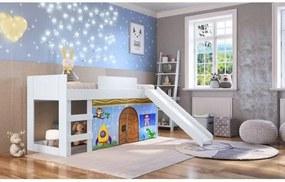 Cama Infantil com Escorregador e Tenda Fun Azul - Casatema