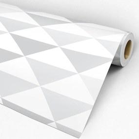 Adesivo geométrico triângulo cinza e branco