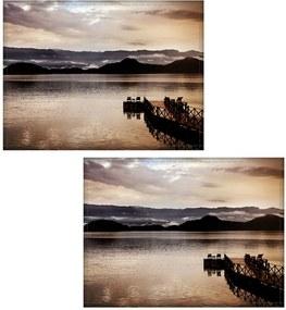 Jogo americano Colours Creative Photo Decor - Vista de pier em Angra do Reis, RJ - 2 peças