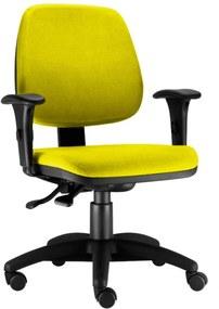 Cadeira Giratória Lym Decor Job Amarelo