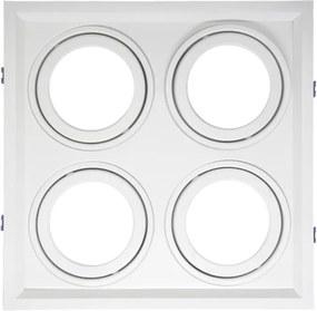 Plafon Embutir Aluminio Branco 32,4cm Recuado