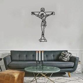 Quadro Decorativo Escultura de Parede Jesus 40cm Sala Escritório