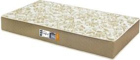 Colchão De Espuma D33 Certificada Solteiro Pro Confort Bordado 78x188x17 Cor Marrom Caqui