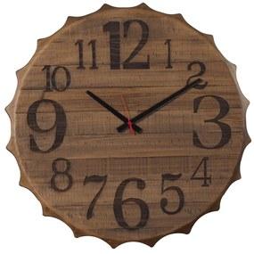 Relógio Cap de Madeira Maciça -