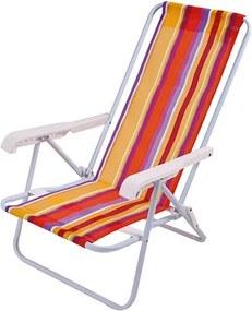 Cadeira Reclinável MultiColor 8 Posições Aço - Mor Verão