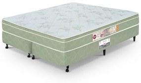 Cama Box King Casal  Verde Castor  Sleep Max D33 180x200x60