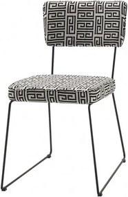 Cadeira Milan Estampa Lab Base Preta - 49681 Sun House