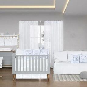 Quarto de Bebê Blanc Azul 26 Peças