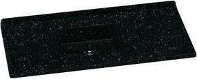 Pia de Granito Sintético 120x55cm Preta com Cuba Preta - 5422 - Rorato - Rorato