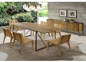 Conjunto Mesa Lumber e 6 Cadeiras Paty -