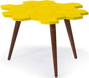 Mesa de Centro Colméia Amarela