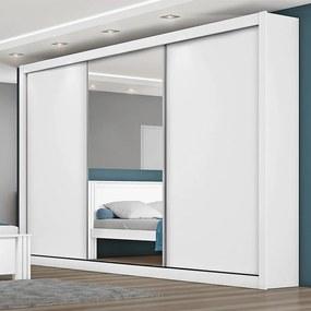Guarda-roupa Jardim (L: 275cm) C/ 1 Porta Espelhada 100% Mdf Branco