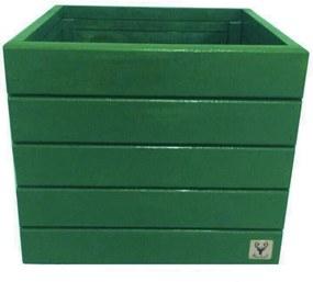 Vaso Madeira Cachepot ALCE COUCH Verde 36X40X40