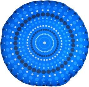 Almofada Redonda Bolas Azul