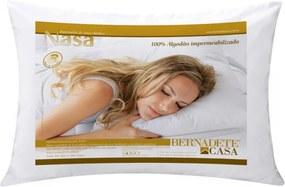 Travesseiro Nasa com Capa Impermeanilizafa em Algodao e Espuma Visco Elastico (70cm x 50cm) 01 peça - Travesseiro Nasa - Bernadete Casa