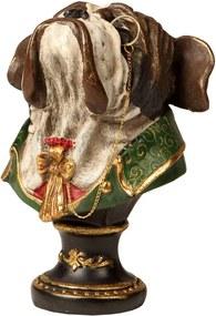 Escultura Decorativa de Resina Cachorro Ace