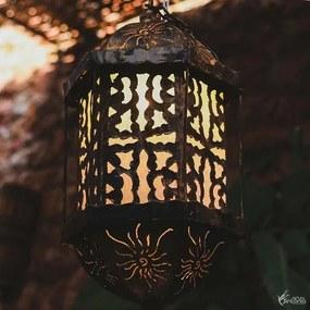 Luminária Pendente Marroquina em Ferro