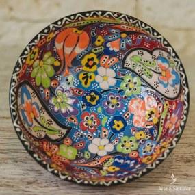 Tigela em Cerâmica Turca Floral