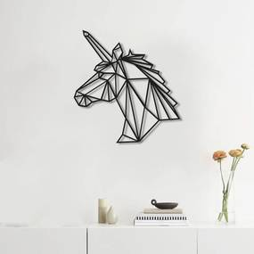 Quadro Decorativo Escultura de Parede Unicornio 30cm Sala Quarto