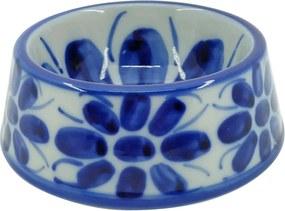 Comedouro para Animais 13 cm Colonial Azul e Branco