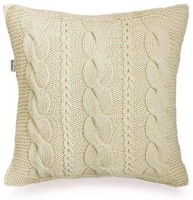 Almofada de tricot bege