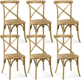 Kit 06 Cadeiras Para Sala de Jantar Cozinha Blair Oak - Gran Belo