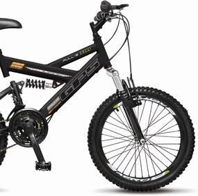 Bicicleta Colli Bikes Infantil Aro 20 Dupla Suspensão Preto Fosco