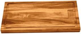 Tábua para Churrasco Tramontina Retangular Média em Madeira Muiracatiara com Acabamento Envernizado 40 x 27 cm -  Tramontina