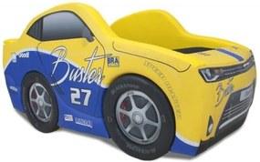 Cama Cama Carro Chevy Cartoon Amarelo
