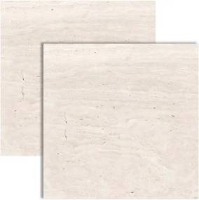 Porcelanato Travertino Veins Acetinado Retificado 80x80cm - 8664 - Ceusa - Ceusa