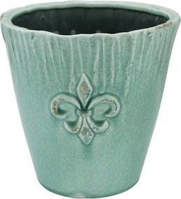 Cachepot em Cerâmica Verde - 21x21cm
