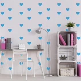 Adesivo de Corações Azul Médio 55un Cobre 5m²