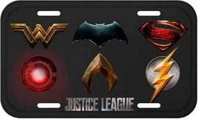 Placa Decorativa Liga da Justiça Logos