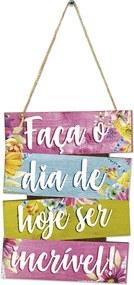 Placa Decorativa De Frase Roxo 14x18cmÚnico