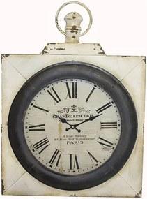 Relógio de Parede de Ferro Quadrado