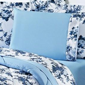 Jogo de Cama Queen Murano Floral Azul 4 Peças