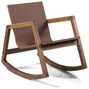 Cadeira de Balanço Village com Revestimento Ecológico -