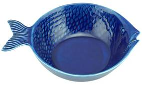 Jogo Bowl Cerâmica Peixe 4 Peças Ocean Azul 20x14cm 28099 Bon Gourmet