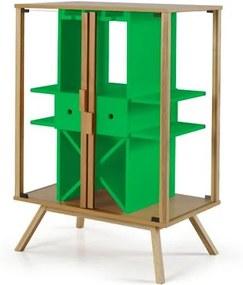 Cristaleira Mystic Cor Natural Com Verde - 29110 Sun House