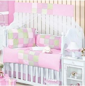 Kit Berço Padroeira Baby Quadrinhos Rosa